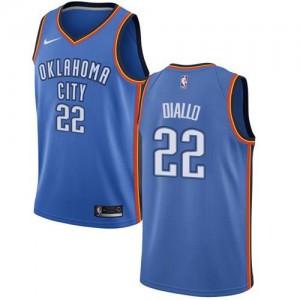 Nike Maillot Basket Hamidou Diallo Oklahoma City Thunder No.22 Enfant Bleu royal Icon Edition