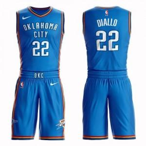 Maillot Basket Hamidou Diallo Thunder #22 Enfant Bleu royal Suit Icon Edition Nike