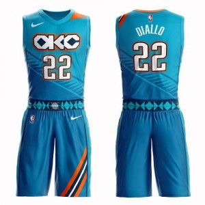 Nike Maillot De Diallo Thunder No.22 Homme Turquoise Suit City Edition