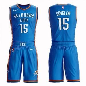 Nike Maillots Kyle Singler Oklahoma City Thunder Suit Icon Edition No.15 Homme Bleu royal