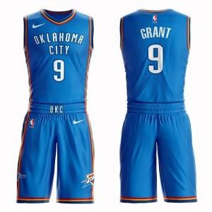 Nike NBA Maillots De Jerami Grant Thunder Suit Icon Edition Enfant Bleu royal No.9