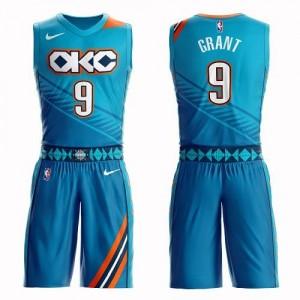 Nike Maillot De Basket Jerami Grant Oklahoma City Thunder Turquoise Enfant No.9 Suit City Edition
