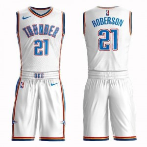 Maillot Basket Andre Roberson Oklahoma City Thunder #21 Homme Nike Blanc Suit Association Edition