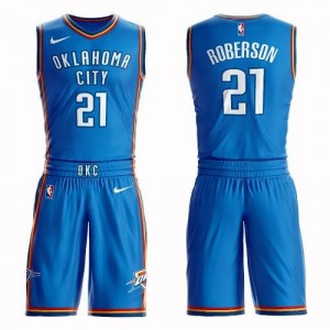 Nike Maillots Andre Roberson Thunder Bleu royal Suit Icon Edition Homme No.21