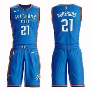 Nike Maillot De Basket Roberson Thunder #21 Enfant Bleu royal Suit Icon Edition