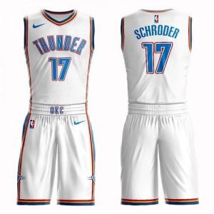 Nike Maillot Dennis Schroder Thunder Suit Association Edition Homme Blanc No.17
