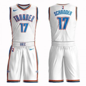 Nike NBA Maillot De Schroder Oklahoma City Thunder Enfant No.17 Blanc Suit Association Edition