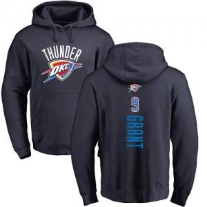 Nike NBA Hoodie De Basket Grant Oklahoma City Thunder #9 Pullover bleu marine Backer Homme & Enfant