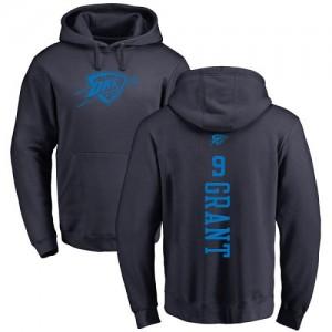 Nike Sweat à capuche Basket Jerami Grant Oklahoma City Thunder Homme & Enfant No.9 Pullover bleu marine One Color Backer