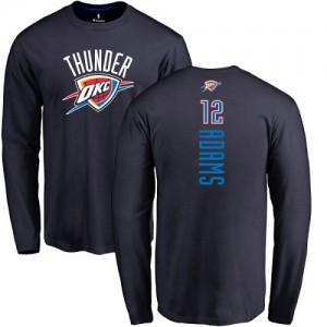 T-Shirt De Adams Oklahoma City Thunder Long Sleeve #12 Nike Homme & Enfant bleu marine Backer