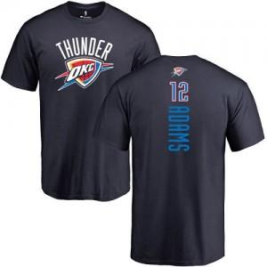 T-Shirts De Basket Steven Adams Oklahoma City Thunder Homme & Enfant No.12 bleu marine Backer Nike