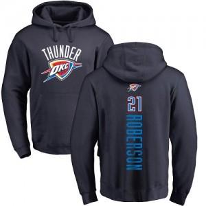Nike Sweat à capuche De Basket Andre Roberson Oklahoma City Thunder bleu marine Backer Homme & Enfant #21 Pullover