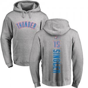 Hoodie Basket Kyle Singler Oklahoma City Thunder Homme & Enfant Nike Ash Backer Pullover No.15
