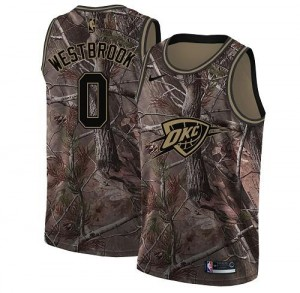 Nike NBA Maillot De Westbrook Oklahoma City Thunder Enfant Camouflage No.0 Realtree Collection