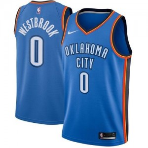 Nike Maillot De Basket Westbrook Oklahoma City Thunder Bleu royal Enfant Icon Edition #0