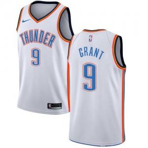 Maillots Basket Jerami Grant Thunder Association Edition Blanc Nike Homme #9