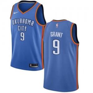 Maillots Basket Jerami Grant Oklahoma City Thunder Nike Icon Edition Homme Bleu royal #9