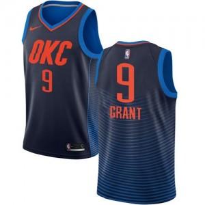 Nike NBA Maillots Jerami Grant Thunder Statement Edition Homme #9 bleu marine