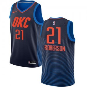 Nike NBA Maillot De Basket Roberson Oklahoma City Thunder No.21 bleu marine Homme Statement Edition