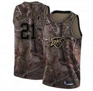 Nike Maillots Roberson Thunder No.21 Camouflage Realtree Collection Homme