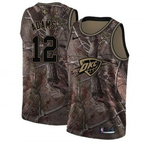Nike NBA Maillots Basket Steven Adams Thunder #12 Enfant Camouflage Realtree Collection