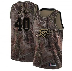 Nike NBA Maillots De Kemp Thunder Enfant Camouflage #40 Realtree Collection