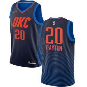 Maillots Payton Oklahoma City Thunder bleu marine Nike Enfant Statement Edition #20