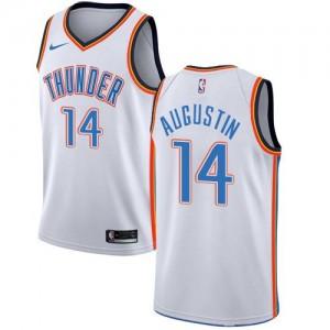 Maillots Basket Augustin Oklahoma City Thunder Association Edition Nike Enfant Blanc #14