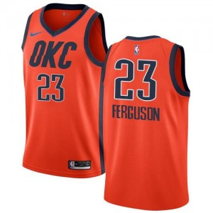 Maillot Basket Terrance Ferguson Oklahoma City Thunder Nike Orange Earned Edition #23 Homme