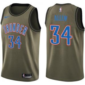 Nike NBA Maillots De Allen Oklahoma City Thunder vert Salute to Service #34 Enfant