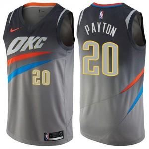 Maillots Basket Gary Payton Thunder Enfant City Edition Nike Gris #20
