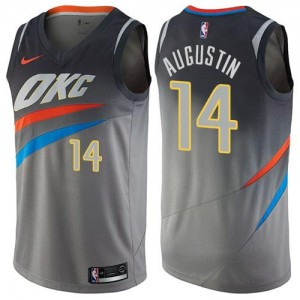 Maillot Basket Augustin Oklahoma City Thunder Enfant #14 City Edition Gris Nike