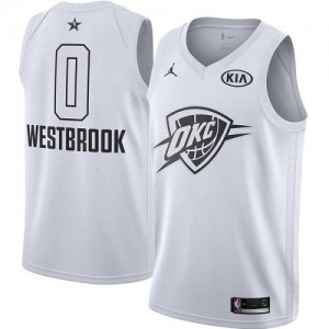 Jordan Brand NBA Maillots De Westbrook Oklahoma City Thunder #0 Blanc Enfant 2018 All-Star Game