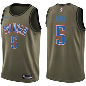 Nike NBA Maillot De Basket Hall Oklahoma City Thunder Salute to Service Enfant #5 vert