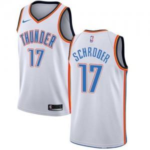 Maillots Dennis Schroder Thunder Association Edition Blanc No.17 Homme Nike