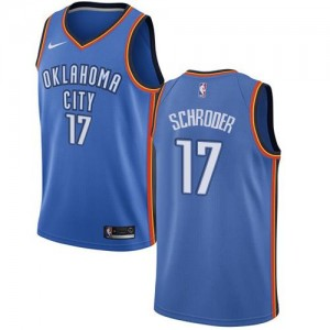 Maillots Dennis Schroder Oklahoma City Thunder Nike No.17 Icon Edition Homme Bleu royal