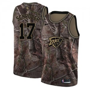 Maillots De Basket Schroder Oklahoma City Thunder Realtree Collection No.17 Homme Camouflage Nike