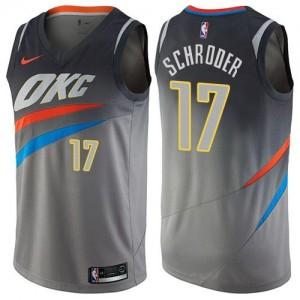 Nike NBA Maillot De Schroder Oklahoma City Thunder No.17 Homme City Edition Gris