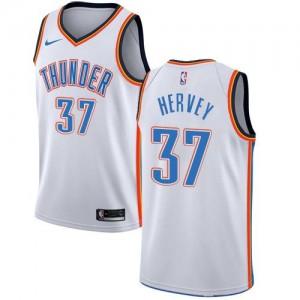 Nike Maillot Hervey Oklahoma City Thunder Association Edition Blanc Enfant No.37
