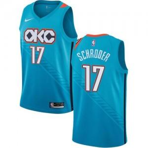 Maillot Schroder Oklahoma City Thunder Enfant Nike Turquoise City Edition No.17