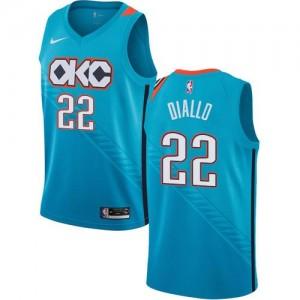 Nike NBA Maillots Hamidou Diallo Thunder #22 Turquoise City Edition Enfant