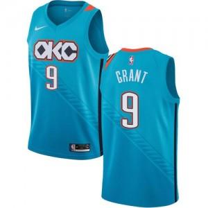 Nike NBA Maillots Basket Grant Oklahoma City Thunder Turquoise #9 Homme City Edition