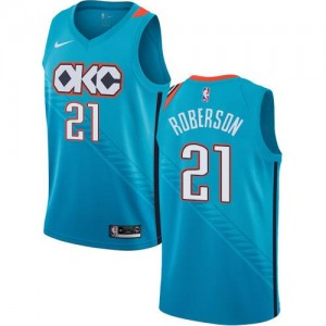 Nike Maillots De Andre Roberson Thunder Enfant No.21 Turquoise City Edition