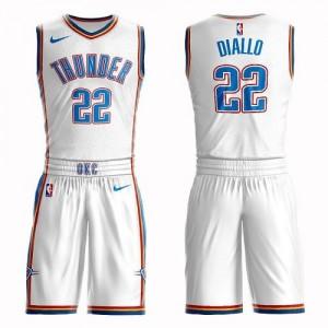 Nike NBA Maillot De Hamidou Diallo Oklahoma City Thunder Enfant Suit Association Edition Blanc #22