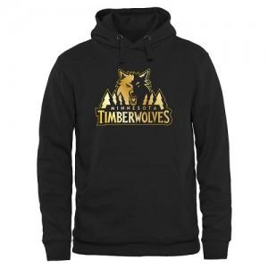 Sweat à capuche De Basket Timberwolves Homme Gold Collection Pullover Noir