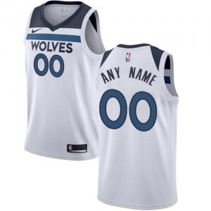 Maillot Personnalisé Minnesota Timberwolves Nike Homme Blanc Association Edition