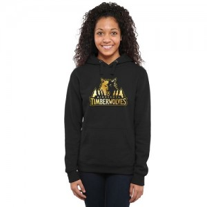 Hoodie De Minnesota Timberwolves Femme Noir Gold Collection Ladies Pullover