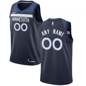 Maillot Personnalisable Timberwolves Homme Nike bleu marine Icon Edition