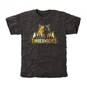 NBA Tee-Shirt Minnesota Timberwolves Gold Collection Tri-Blend Noir Homme