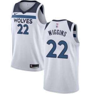 Nike Maillots De Basket Wiggins Minnesota Timberwolves Association Edition No.22 Blanc Homme